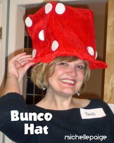 michelle paige: 40th Casino Party  Bunco hat