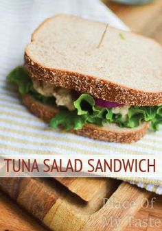 This Tuna Salad Sandwich is perfect for a quick lunch. Very easy to ...
