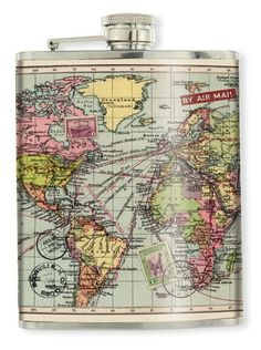 WANT ONE!!!!!!! Map flask