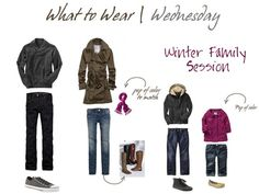 what to wear for winter family pictures | Winter Family Portrait attire | What to Wear Ideas