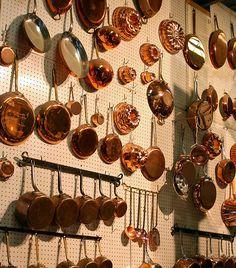 The copperware at E. Dehillerin in Paris where Julia Child shopped. #HappyBirthdayJulia julia child, copper, jaim pari, kitchen, place, dehillerin