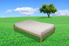 Hop Natural Organic Wood Platform Bed Frame Oak
