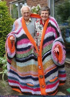 Yarnbombing old people...
