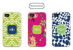 Whitney English iPhone 6 & iPhone 6 Plus Cases Available for Pre Order Now! #iPhone #iPhone6 #monograms