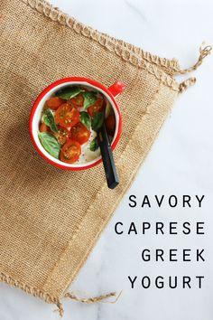 Caprese greek yogurt