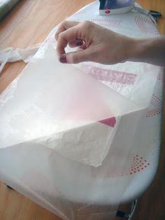 Melting plastic bags together tutorial
