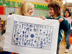 A new way to fundraise for your kid's school, with a personal touch. Transfer kids-made graphics to pillowcases, towels, etc.