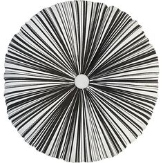 Retro Radial B/W Pillow by cb2 #Pillow