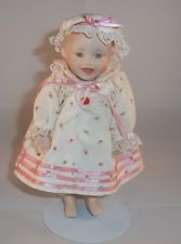 Ashton Drake Sarah By Yolanda Bello Porcelain Miniature Doll Stand Included