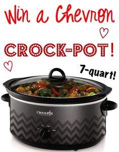 Chevron Crockpot Giveaway button