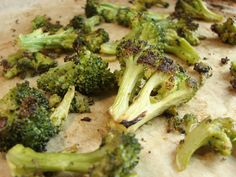 spiced roasted frozen  broccoli  - we made this last night. it was so freaking good and I don't even like broccoli.  http://empoweredsustenance.com/spiced-roasted-broccoli-from-the-freezer/