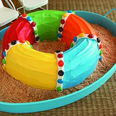 Pool party float cake
