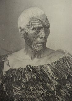 Maori chief with facial Moko