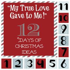 """My True Love Gave to Me!"" 12 days of Christmas Ideas for the Love of your Life! Sixsistersstuff.com  #christmas #gifts"