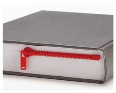 Peleg Design Red Zipmark ZIPPER Bookmark Book Page Holder