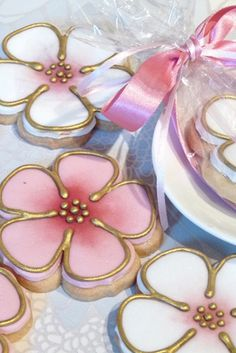 vintage blossoms cookies
