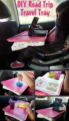 We used a cookie sheet and some scrap fabric to make this DIY Road Trip Travel Tray - a must have item on a multi-hour car trip with a toddler!