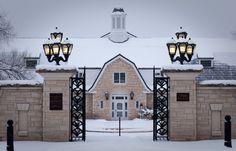 Gate to Kansas State University Gardens.