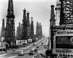 Feininger, Andreas (1906-1999) - 1948 Oil Field, Signal Hill, near Long Beach, California by RasMarley, via Flickr