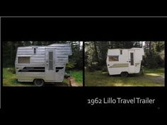 Lil Loafer - Time lapse painting 1962 Lillo Travel Trailer