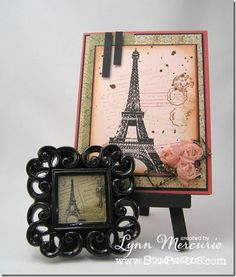 Card and coordinating resin frame with products by Stampendous and EnviroTex Craft Resin!
