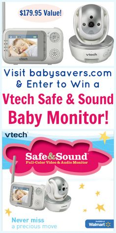 Enter to win a Vtech Safe and Sound Full Color Video Baby Monitor from @Marybeth Hamilton @ BabySavers.com!