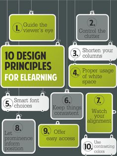 10 #Design Principles for #eLearning