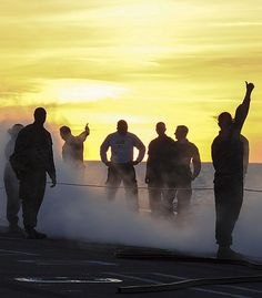 ATLANTIC OCEAN (Aug. 25, 2013) Sailors from the V-2 division aboard the aircraft carrier USS Theodore Roosevelt (CVN 71) perform practice catapult launches on the flight deck.
