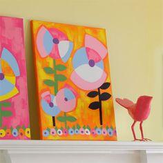 wall art, interior design, artworks, art idea, accessories, flower orang, preschool, pop flower, acryl artwork