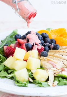 No need to run to Panera, just try this healthy strawberry chicken salad recipe!