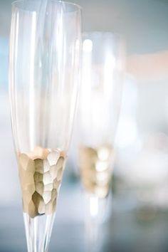 Gold champagne flutes {Photo by Dear Wesleyann via Project Wedding}