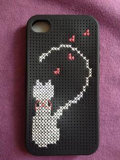 Angelas Crafts: Cross stitch iPhone cases - Funda para iPhone en punto de cruz