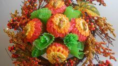 Autumn cupcake bouquet