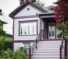 A selection of photos of before and after extreme exterior makeover of old houses