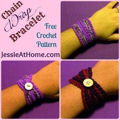 #Crochet Wrap Bracelet free pattern from @Jessie_AtHome