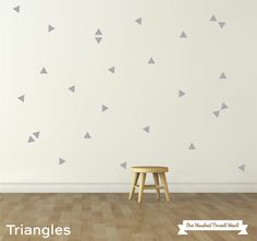 Large Triangles Wall Stickers || Good Regards