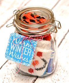 Winter Survival Kit  - Gift in a Jar