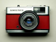 red Olympus Trip 35 #vintage #camera