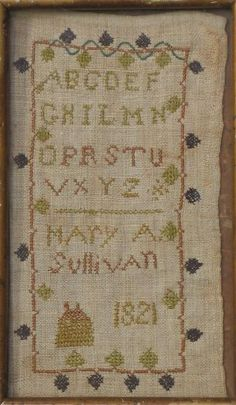Mary A. Sullivan 1821 cross stitch
