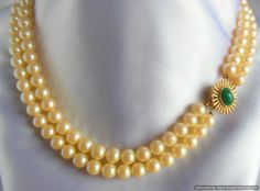 Vintage Necklace Two Strand Glass Pearl with by VJSEJewelsofhope, $20.00