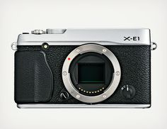 Fujifilm X-E1 Digital Camera | Loving the model camera features with a vintage exterior.