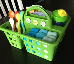 Organized for baby mealtimes.