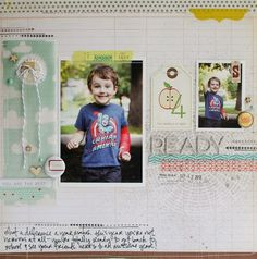 school theme // ready by lisa truesdell - Two Peas in a Bucket #scrapbooking #back to school
