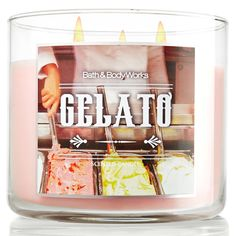 Bath Body Works 3 Wick Candle Gelato // must have!