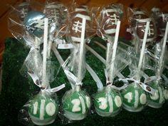 Football cake pops #cakepops #football