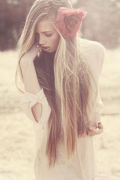 hair, flower