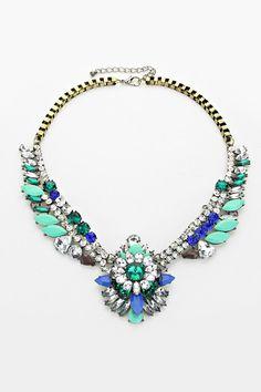 Mint Emerald Statement Necklace