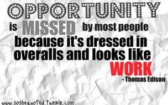 Opportunity edison quot, inspir, worth quot