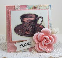 Tea, Lace and Roses...all product from The Stamp Simply Ribbon Store!
