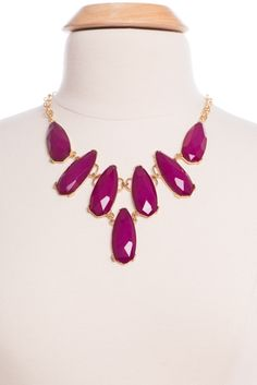 The Kendra Necklace, Plum
